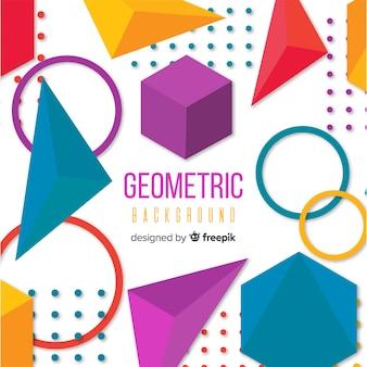 Fundo geométrico plano