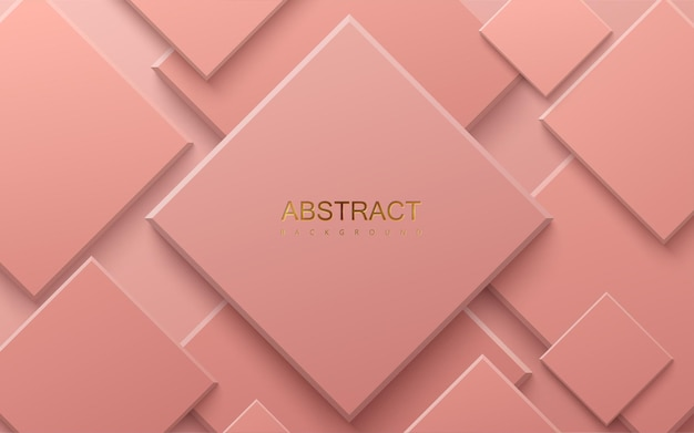 Fundo geométrico rosa coral