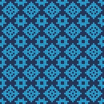 Fundo geométrico sem costura padrão na cor azul
