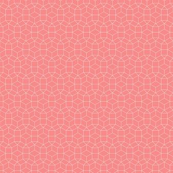 Fundo geométrico sem costura padrão na cor salmão