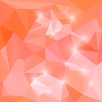 Fundo geométrico triangular de vetor poligonal abstrato com luzes brilhantes para uso em design de cartão, convite, cartaz, banner, cartaz ou capa de outdoor
