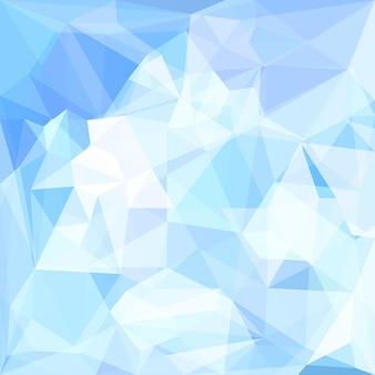 Fundo geométrico triangular de vetor poligonal de cor azul suave abstrato para uso em design de cartão, convite, cartaz, banner, cartaz ou capa de outdoor Vetor Premium