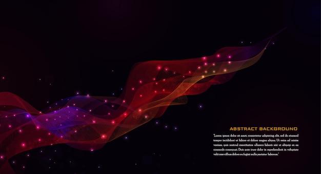 Fundo geométrico vermelho abstrato
