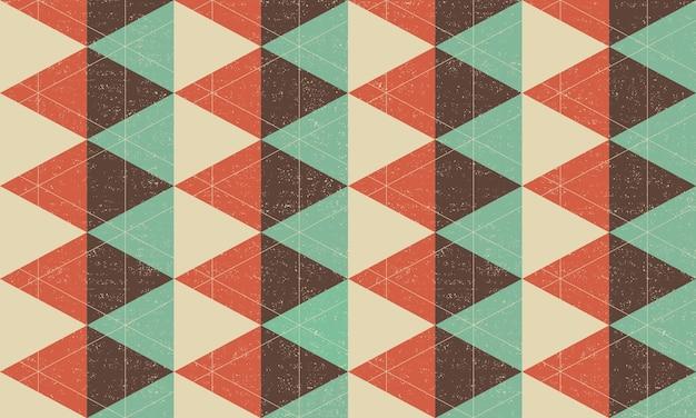 Fundo geométrico vintage