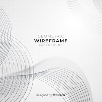 Fundo geométrico wireframe