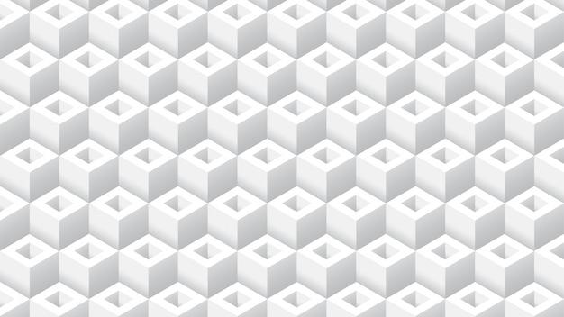 Fundo geomteric de cubo branco limpo