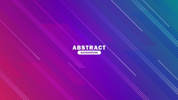 Fundo gradiente abstrato azul e roxo com ilustração vetorial de linha