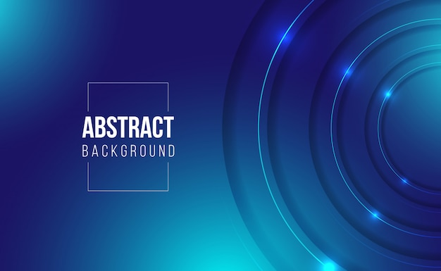Fundo gradiente abstrato azul escuro brilhante de jogos