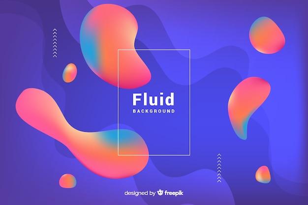 Fundo gradiente abstrato com formas fluidas