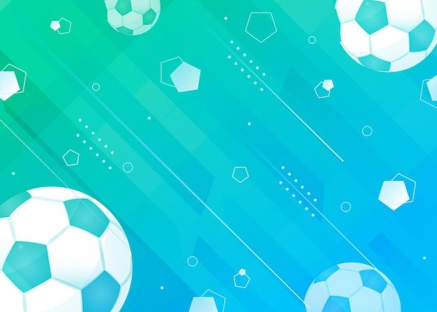 Fundo gradiente abstrato de futebol