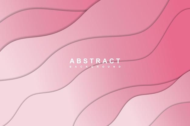 Fundo gradiente abstrato rosa com corte de papel ondulado em camadas