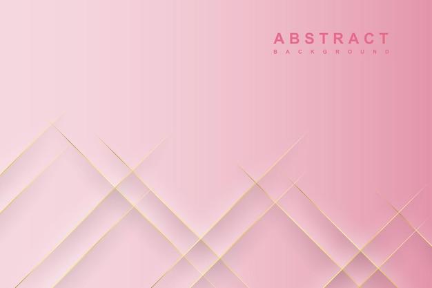 Fundo gradiente abstrato rosa com efeitos de corte de papel de sombra diagonal
