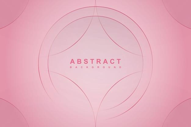 Fundo gradiente abstrato rosa com linha de círculo
