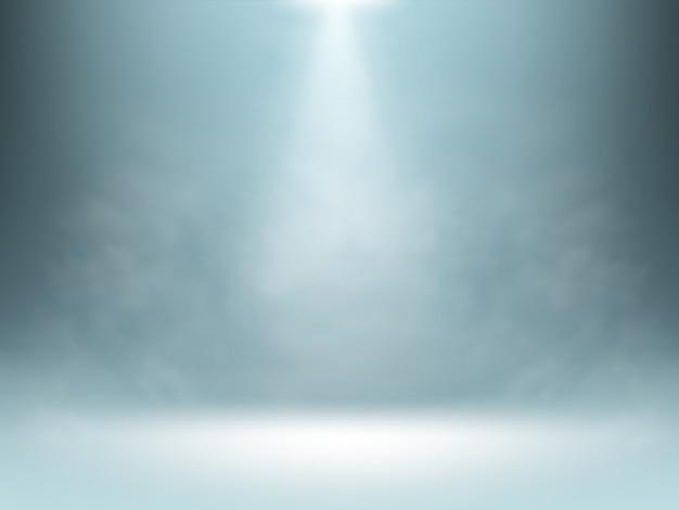 Fundo gradiente cinza, iluminação holofotes