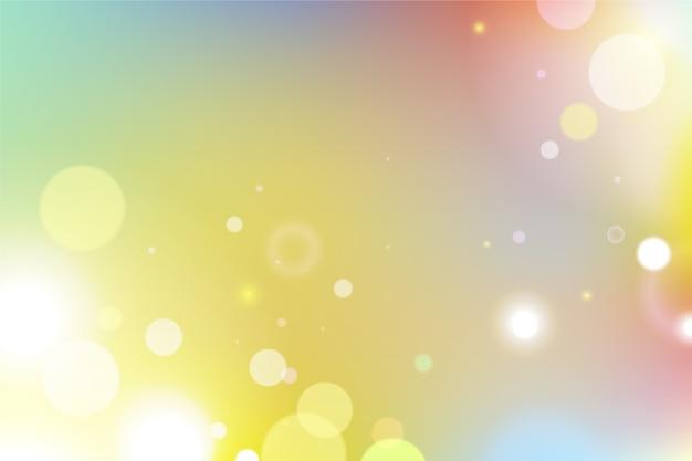 Fundo gradiente colorido com efeito bokeh
