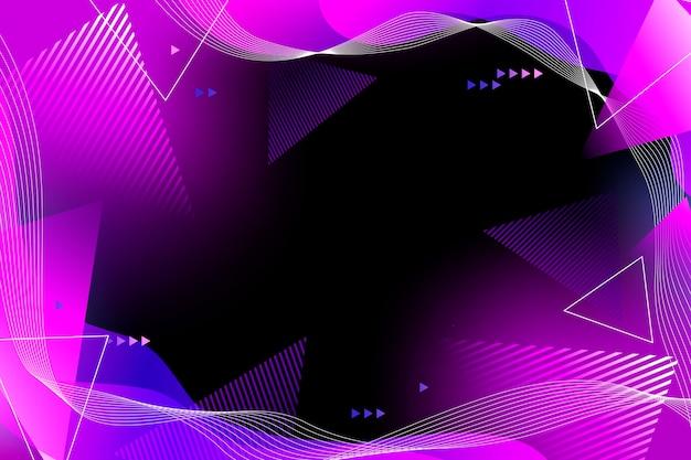 Fundo gradiente colorido com formas geométricas