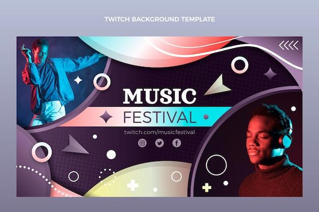 Fundo gradiente colorido do festival de música