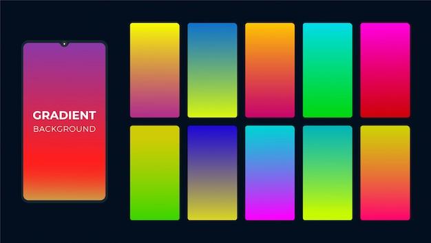 Fundo gradiente colorido vibrante