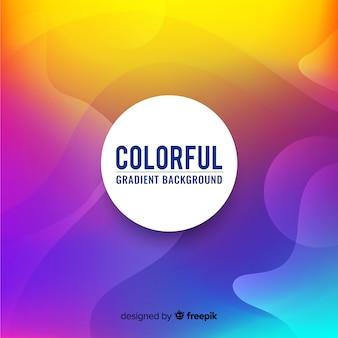 Fundo gradiente colorido