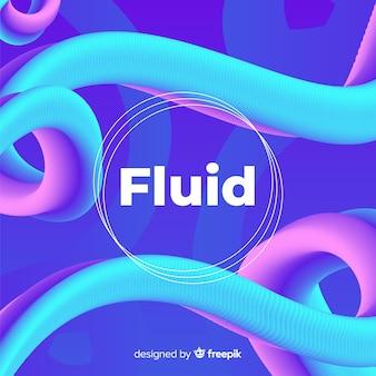 Fundo gradiente com formas fluidas 3d