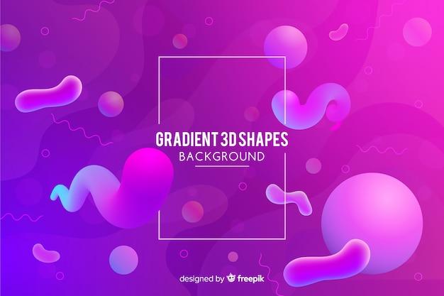 Fundo gradiente com formas fluidas