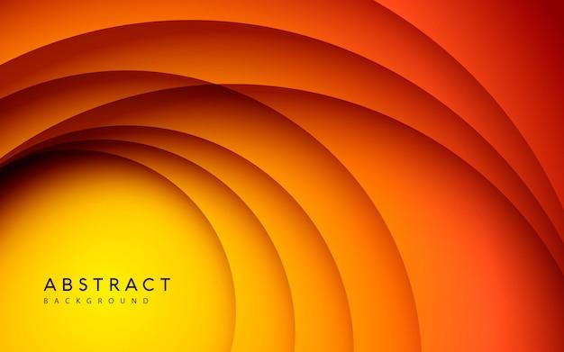Fundo gradiente. composição de cores suaves do círculo abstrato papercut.