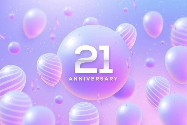 Fundo gradiente de 21 anos