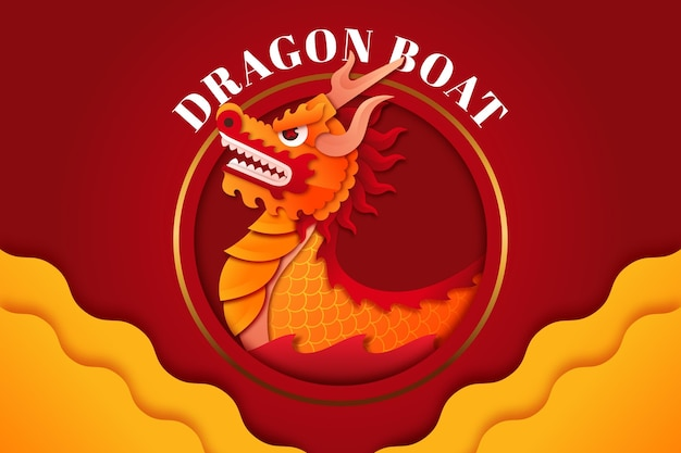 Fundo gradiente de barco dragão