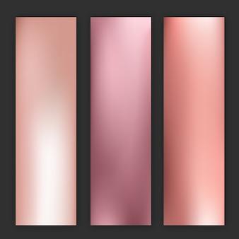 Fundo gradiente de borrão de ouro rosa