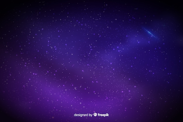 Fundo gradiente de céu estrelado