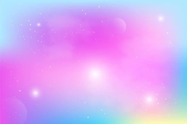 Fundo gradiente de céu pastel