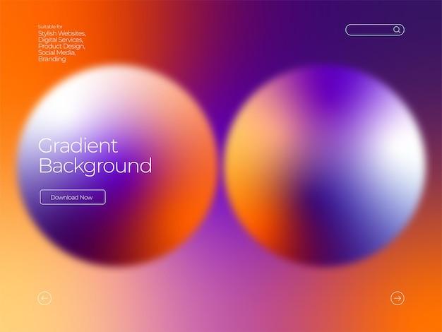 Fundo gradiente de círculo moderno