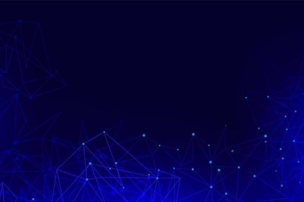 Fundo gradiente de conexão de rede com pontos