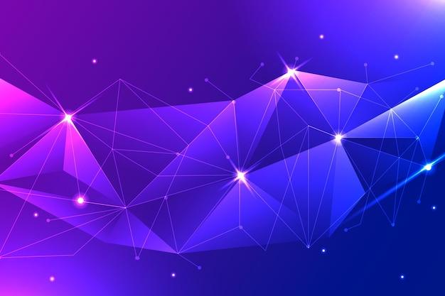 Fundo gradiente de conexão de rede