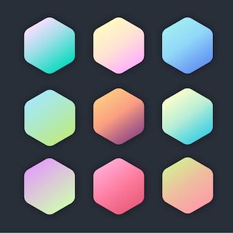 Fundo gradiente de cor pastel