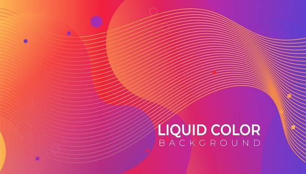 Fundo gradiente de cores brilhantes com ondas de gradientes líquidos