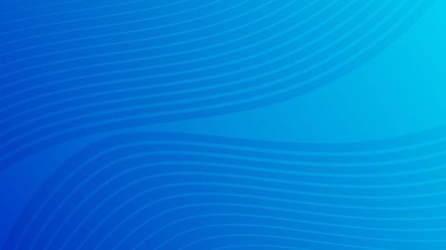 Fundo gradiente de curva de onda colorida moderna. cenário de apresentação abstrato mínimo azul. ilustração vetorial