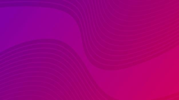 Fundo gradiente de curva de onda colorida moderna. cenário de apresentação abstrato mínimo roxo. ilustração vetorial