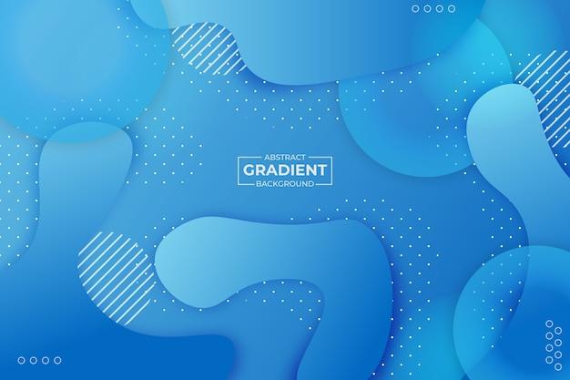 Fundo gradiente de forma abstrata azul