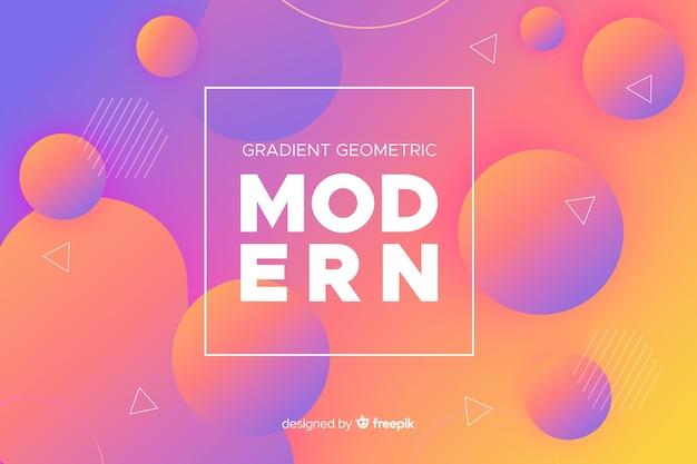 Fundo gradiente de formas geométricas modernas