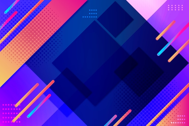 Fundo gradiente de formas geométricas