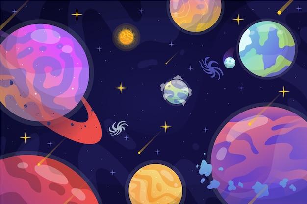 Fundo gradiente de galáxia
