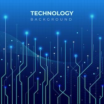 Fundo gradiente de grande volume de dados de tecnologia