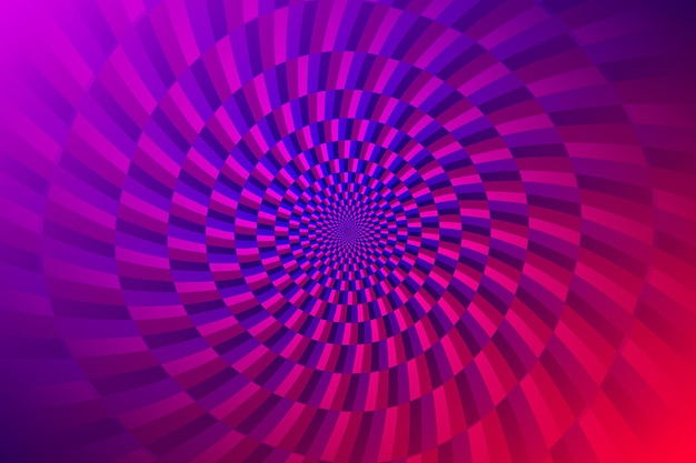 Fundo gradiente de ilusão de ótica