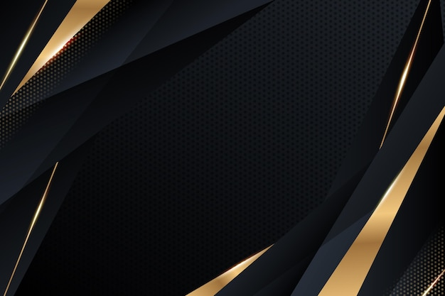 Fundo gradiente de luxo com detalhes dourados