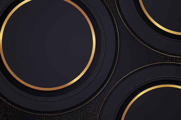 Fundo gradiente de luxo com linhas douradas
