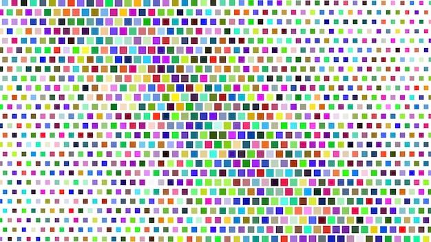 Fundo gradiente de meio-tom abstrato de pequenos quadrados, coloridos em branco
