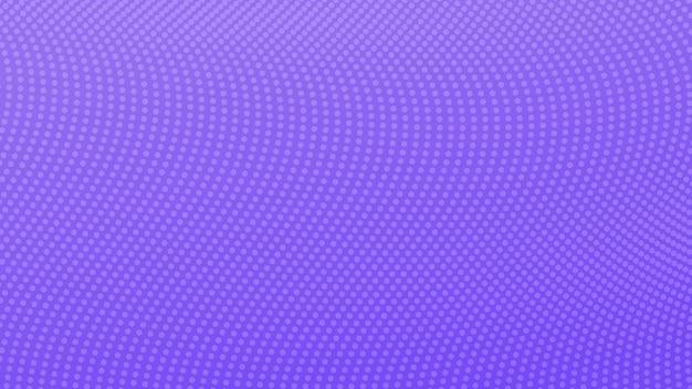 Fundo gradiente de meio-tom com pontos. padrão de arte pop pontilhada violeta abstrata em estilo cômico. ilustração vetorial