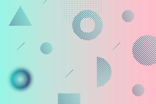 Fundo gradiente de meio-tom