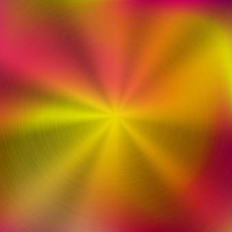 Fundo gradiente de metal abstrato vermelho colorido com textura concêntrica escovada polida circular